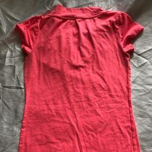 Vanity Tops - Vanity wide v neck hot pink tee size small